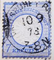ALLEMAGNE Empire _ 1872 _ Y&T N°23 _ 7 Kr. Bleu - (Aigle En Relief - Gros écusson) - Oblitérés