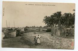 SENEGAL SAINT LOUIS Indigènes Plage Barques Pecheurs Bord Fleuve Au Sud No 370 Fortier 1905 Timb      D04  2020 - Senegal