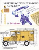 GERMANY - Verkehrsmuseum Nürnberg/Elektrofahrzeug(A 36 A), Tirage 40000, 11/91, Mint - Telefoni