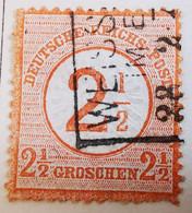 ALLEMAGNE Empire _ 1874 _ Y&T N°28 _ 2.1/2 Kr. Brun - (Aigle En Relief - Gros écusson) - Oblitérés