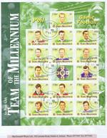 Ireland GAA Football 1999 Millennium Sheetlet Complete Used On Cover, Neat Dublin Cds - Brieven En Documenten