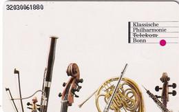 GERMANY(chip) - Klassische Philharmonie Telekom Bonn(A 47), CN : 3203, Tirage %40000, 12/91, Mint - A + AD-Serie : Pubblicitarie Della Telecom Tedesca AG