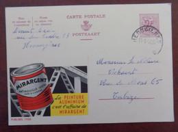 """EP Belgique Publibel 1932 """" Peinture Aluminium Mirargent """" - Hennuyères - Publibels"""
