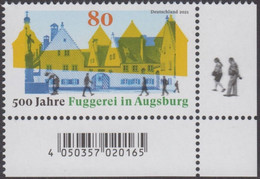 Germany 2021, 500 Years Fuggerei In Augsburg, MNH Single Stamp - Unused Stamps