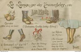 Illustrateur LEO Ch. Le Langage Des Tranchées Avec Chaussures Et Pieds 1916 - Andere Illustrators