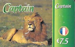 CARTE²-PREPAYEE-7,5€-CAPTAIN LION-Gratté-BE- - Giungla