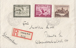 DR R-Brief Mif Minr.709,712,730 Leipzig 8.2.40 - Covers & Documents