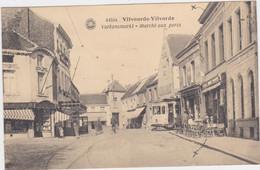 Vilvoorde - Varkensmarkt (met Tram In Stadsgezicht) (Hermans) (gelopen Kaart Met Zegels) - Vilvoorde