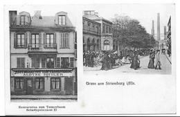 67 - GRUSS AUS STRASSBURG - RESTAURATION ZUM TANNENBAUM SEBASTOPOLSTRASSE 12 - Strasbourg