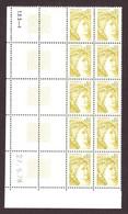 FRANCE 1978 SABINE DE GANDON YT N° 1971 0,80  JAUNE-OLIVE TD3 COIN DATE - 1977-81 Sabine Van Gandon