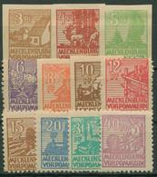 SBZ Mecklenburg-Vorpommern 1946 Abschiedsserie 29/40 Y Mit Falz - Zona Sovietica