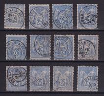 D222 / LOT SAGE N° 78 OBL - 1876-1898 Sage (Type II)