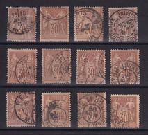 D222 / LOT SAGE N° 80 OBL - 1876-1898 Sage (Type II)