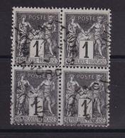 D222 / LOT SAGE N° 83 BLOC DE 4 OBL COTE 20€ - 1876-1898 Sage (Type II)