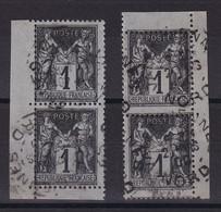 D222 / LOT SAGE N° 83 PAIRES OBL COTE 6€ - 1876-1898 Sage (Type II)