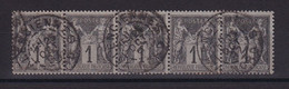 D222 / LOT SAGE N° 83 BANDE DE 5 OBL COTE 9€ - 1876-1898 Sage (Tipo II)
