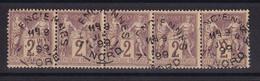 D222 / LOT SAGE N° 85 BANDE DE 5 OBL COTE 20€ - 1876-1898 Sage (Type II)