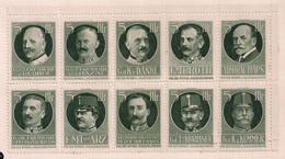 Germany/Austria/Hungary Cindarella Österreich Für Den Witwen U. Waisenhilfsfond WW I BLOCK OF 10 Extra Rare - Erinnophilie
