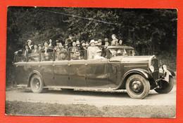 Carte Photo Ancienne Lourdes - Autocar D'excursion - Automobiles, Autobus - Lourdes