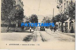 168293 FRANCE ANNEMASSE AVENUE OF STATION TRAIN POSTAL POSTCARD - Unclassified