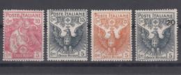 Italy Kingdom 1915-1916 Sassone#102-105 Mint Hinged - Mint/hinged