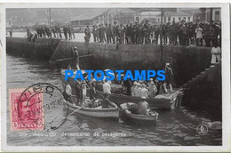 168339 SPAIN ESPAÑA VIGO PONTEVEDRA UN DESEMBARCO DE PASAJEROS BOAT POSTAL POSTCARD - Non Classés