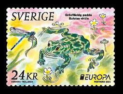Sweden 2021 Mih. 3368 Europa. Endangered National Wildlife. Fauna. European Green Toad MNH ** - Nuovi