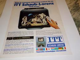 ANCIENNE  PUBLICITE SUR LA LUNE ITT SCHAUB-LORENZ  1977 - Televisione