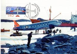 """"""" AVION DAKOTA / A.A.T. """" Sur Carte Maximum Et PAP Neuf Du Territoire Antarctique Australien De 2005. Parfait état. CM - Tarjetas – Máxima"""