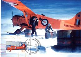 """"""" DE HAVILLAND DHC-2 BEAVER / A.A.T. """" Sur Carte Maximum Et PAP Neuf Du Territoire Antarctique De 2005. Parfait état. CM - Tarjetas – Máxima"""