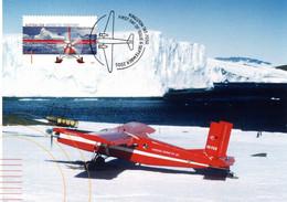 """"""" PILATUS PORTER / A.A.T. """" Sur Carte Maximum Et PAP Neuf Du Territoire Antarctique Australien De 2005. Parfait état. CM - Tarjetas – Máxima"""