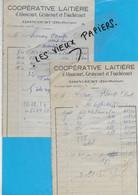 70 - Haute-saône - ABONCOURT- Facture COOPERATIVE LAITIERE - 1951 - REF 192A - 1900 – 1949