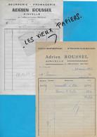 70 - Haute-saône - AINVELLE - Facture ROUSSEL - Beurrerie, Fromagerie - 1951 - REF 192A - 1900 – 1949