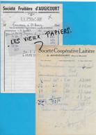 70 - Haute-saône - AUGICOURT - Facture SOCIETE COOPERATIVE LAITIERE - 1961 - REF 192A - 1900 – 1949