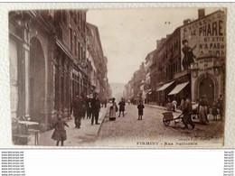 FIRMINY - Rue Nationale (belle Animation, Publicité Sur Le Phare) - Firminy