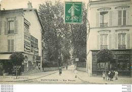 HR 91 MONTGERON. Caviste Et Primeur Rue Parents 1912 - Montgeron