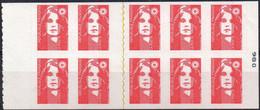 Carnet De 10 Timbres à Validité Permanente - Marianne De Briat - Definitives