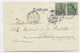 EN ARRIVEE PARIS 77 DISTRIBUTION 1901 SUR CARTE WESSERLING ALSACE + PARIS ETRANGER - 1877-1920: Semi-moderne Periode