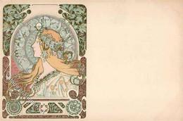 Mucha, Alfons Zodiac Frau I-II - Zonder Classificatie
