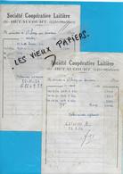 70 - Haute-saône - BETAUCOURT - Facture SOCIETE COOPERATIVE LAITIERE - 1954 - REF 192A - 1900 – 1949