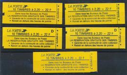 P-655: FRANCE: Lot Avec Carnets N°2376C9A-2376C9B-2376C10 (2)-2376C11a - Standaardgebruik