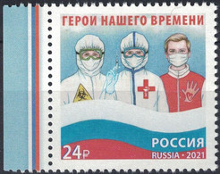 Russia, 2021, Mi. 3029, The Image Of Modern Russia, Heroes Of Our Time, Doctor, Fight Against COVID-19, MNH - Unused Stamps