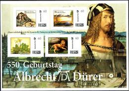 """Deutschland 2021 """"550 Geburtstag Albrecht Dürer - Briefmarken-Block Postfrisch"""" - Unused Stamps"""