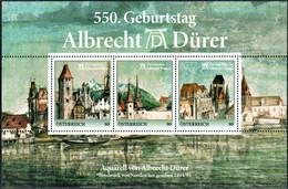"""Austria 2021 """"""""550 Geburtstag Albrecht Dürer - Briefmarkenblock Postfrisch, Österreich"""" - 2011-... Unused Stamps"""