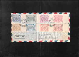 Paraguay 1952, Christobal Colon Imperforated On Registr.cover To New York ( Ref 2656) - Paraguay