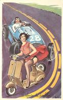 ♥ LOUIS CARRIERE ♥ Automobile Scooter , Défense De Doubler , * 466 84 - Carrière, Louis