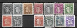 1937 - 47 à 60*MH - Manquant 56 - Unused Stamps