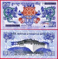 BHUTAN 1 Ngultrum, 2006, P-27, UNC World Currency - Bhutan