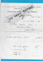 70 - Haute-saône - ETUZ - Facture COOPERATIVE LAITIERE DES PRES MEILLEURS - Beurrerie, Fromagerie - 1954 - REF 192B - 1900 – 1949