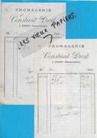 70 - Haute-saône - FEDRY - Facture DROIT - Fromagerie - 0000 - REF 192B - 1900 – 1949